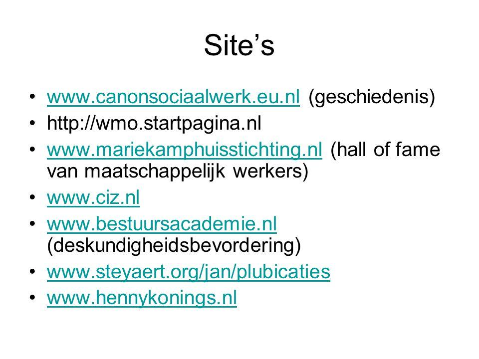 Site's www.canonsociaalwerk.eu.nl (geschiedenis)