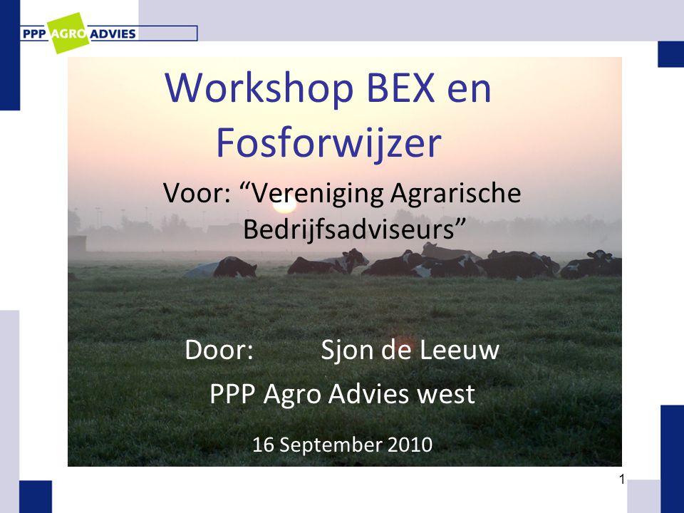 Workshop BEX en Fosforwijzer