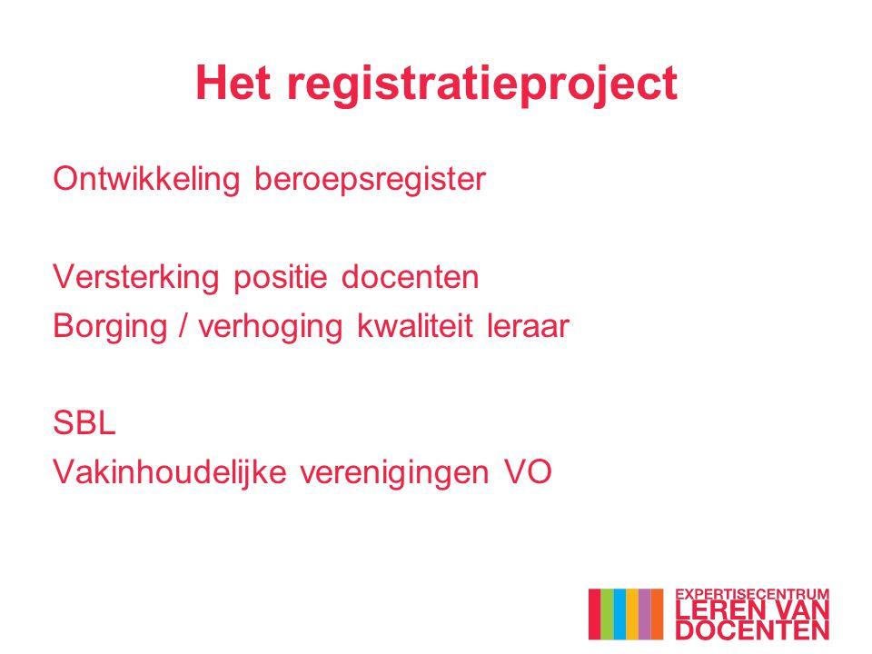 Het registratieproject