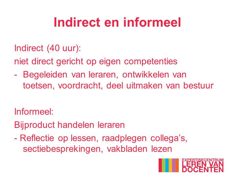 Indirect en informeel Indirect (40 uur):