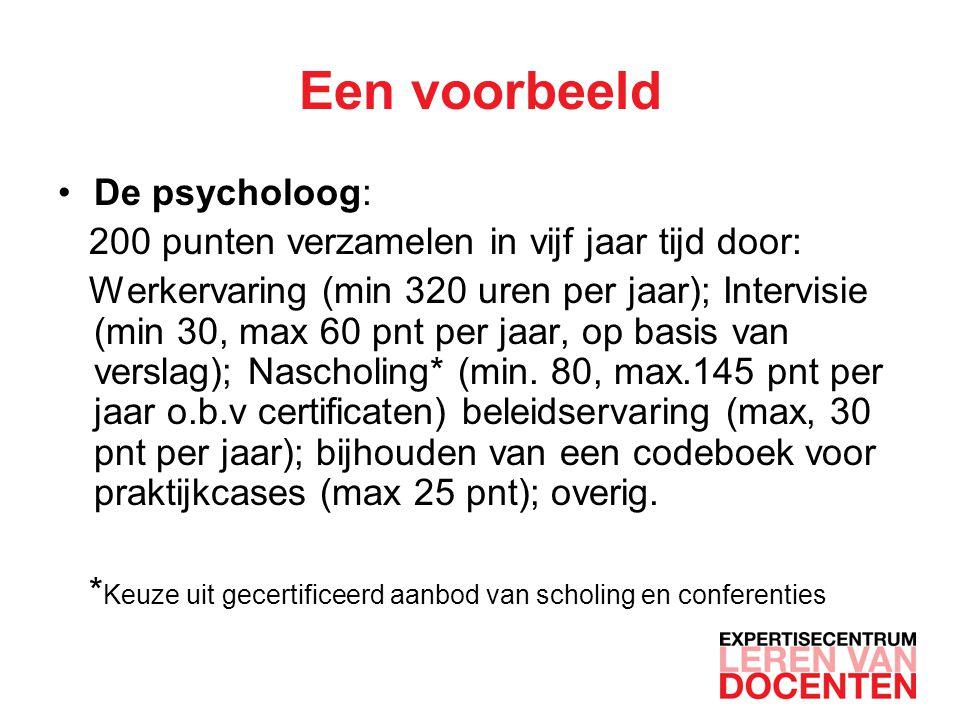 Een voorbeeld De psycholoog:
