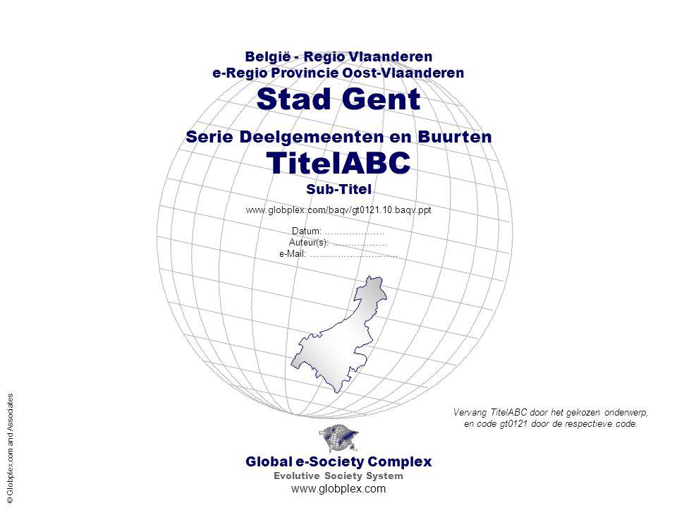 Stad Gent TitelABC Sub-Titel Serie Deelgemeenten en Buurten