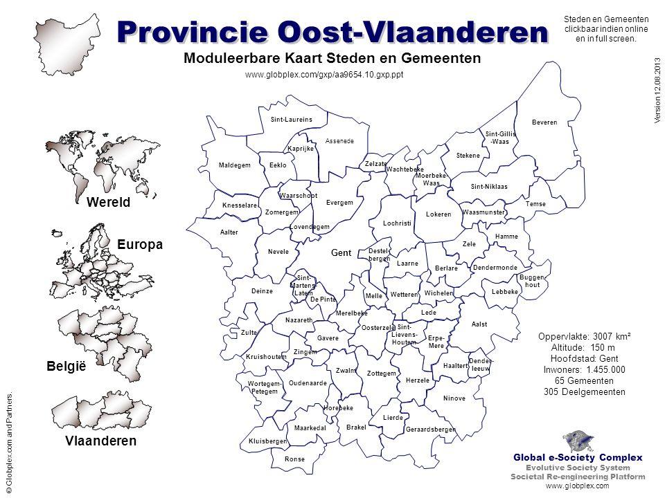 Moduleerbare Kaart Steden en Gemeenten