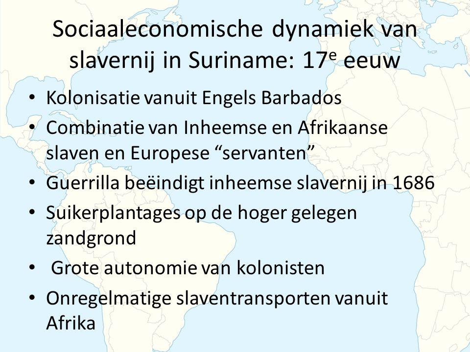 Sociaaleconomische dynamiek van slavernij in Suriname: 17e eeuw