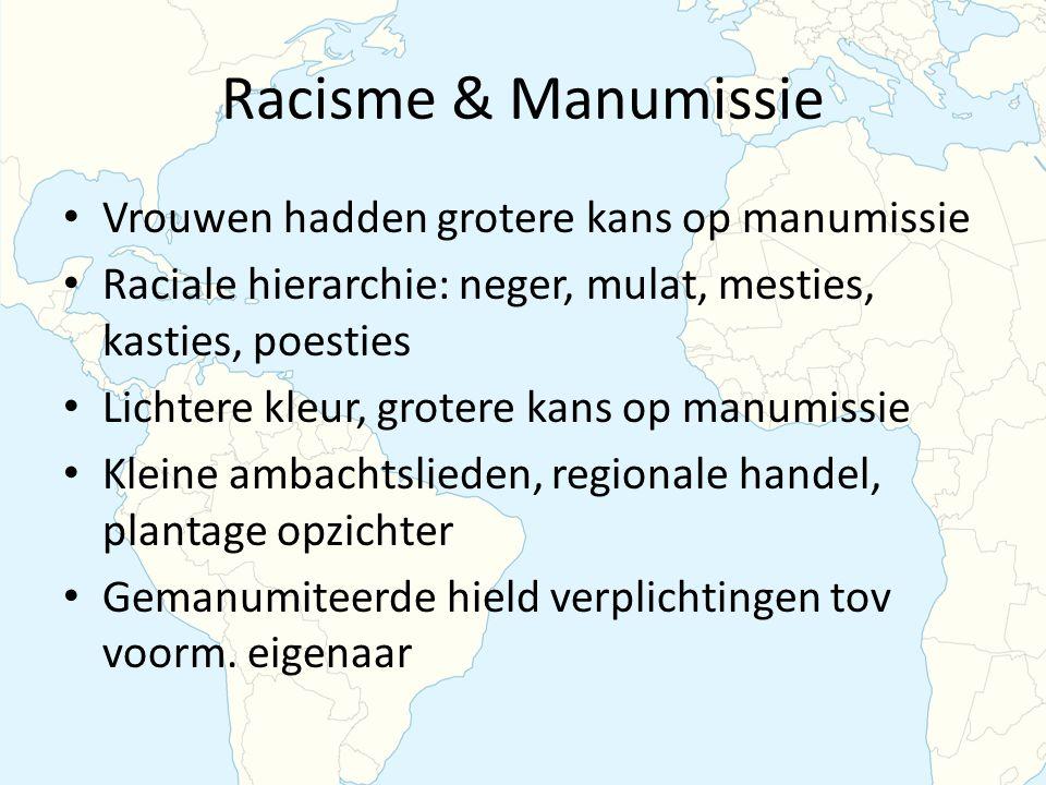 Racisme & Manumissie Vrouwen hadden grotere kans op manumissie