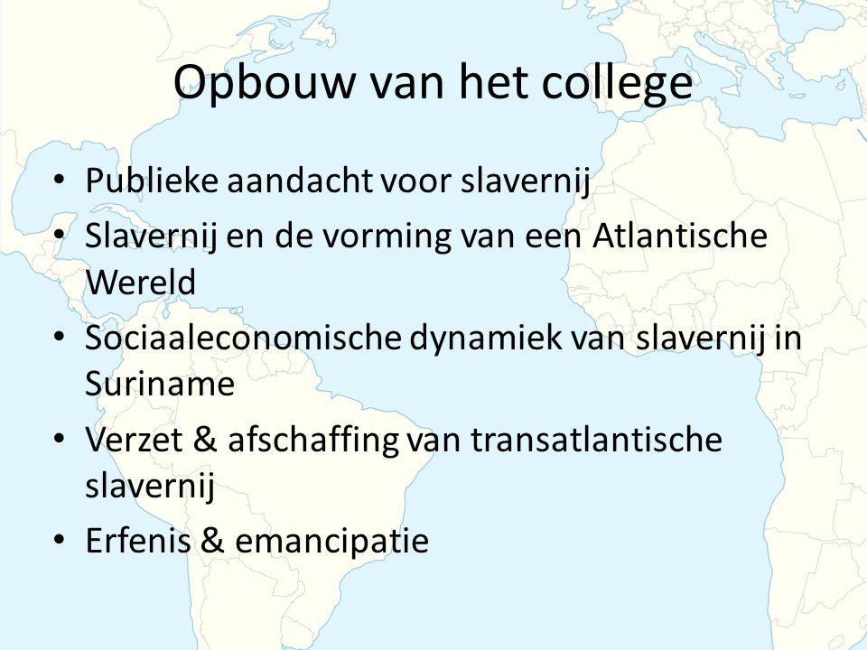 Opbouw van het college Publieke aandacht voor slavernij
