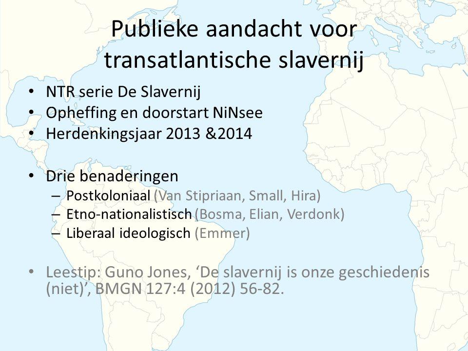 Publieke aandacht voor transatlantische slavernij
