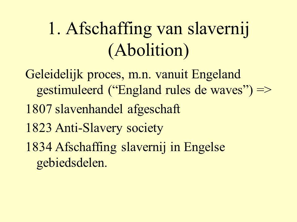 1. Afschaffing van slavernij (Abolition)