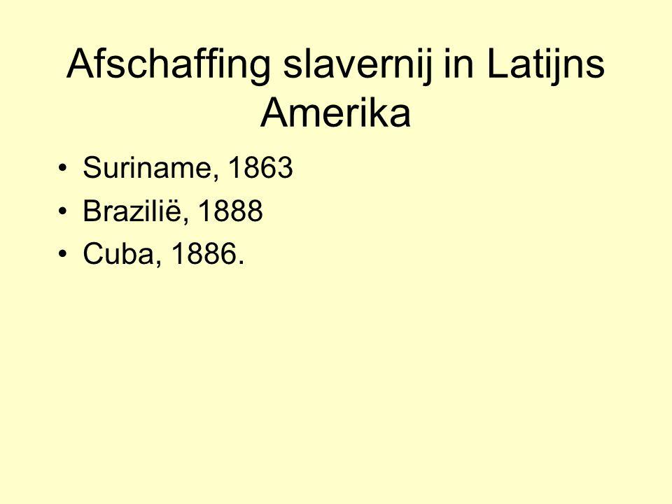Afschaffing slavernij in Latijns Amerika