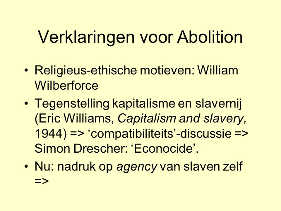 Verklaringen voor Abolition