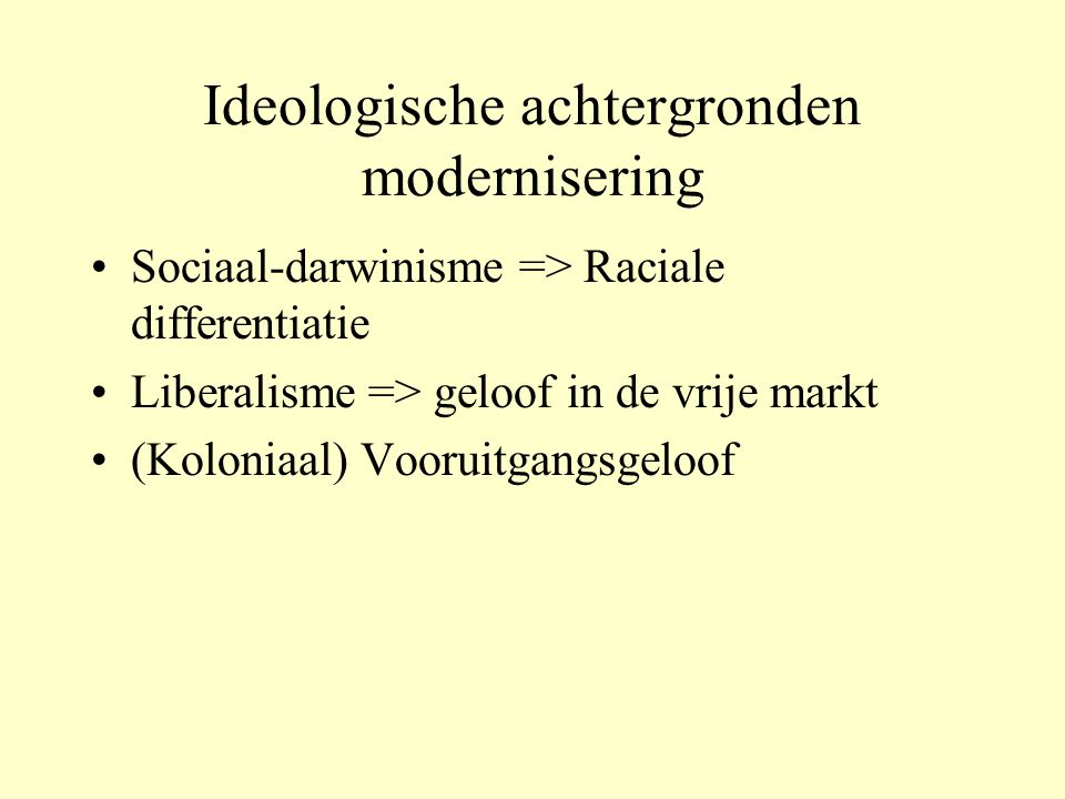 Ideologische achtergronden modernisering
