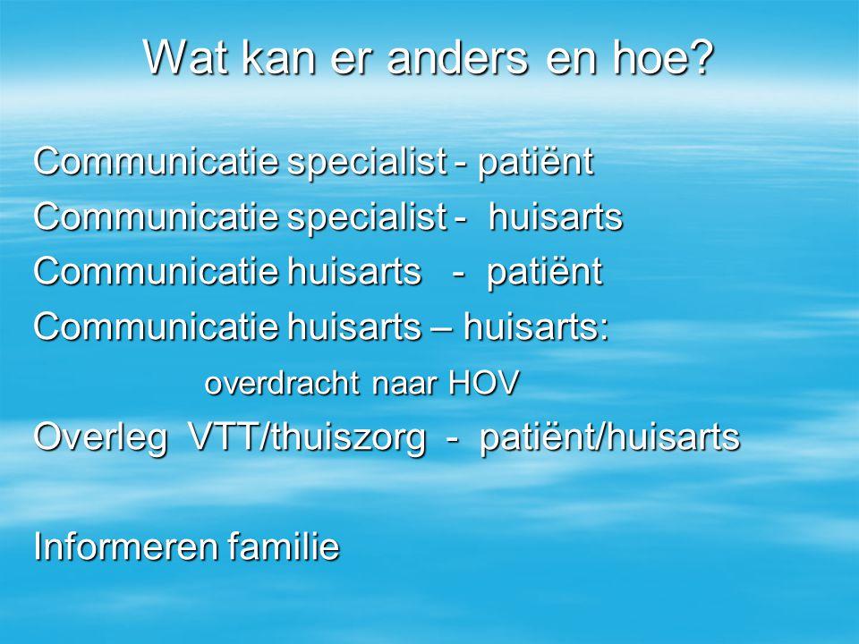 Wat kan er anders en hoe Communicatie specialist - patiënt