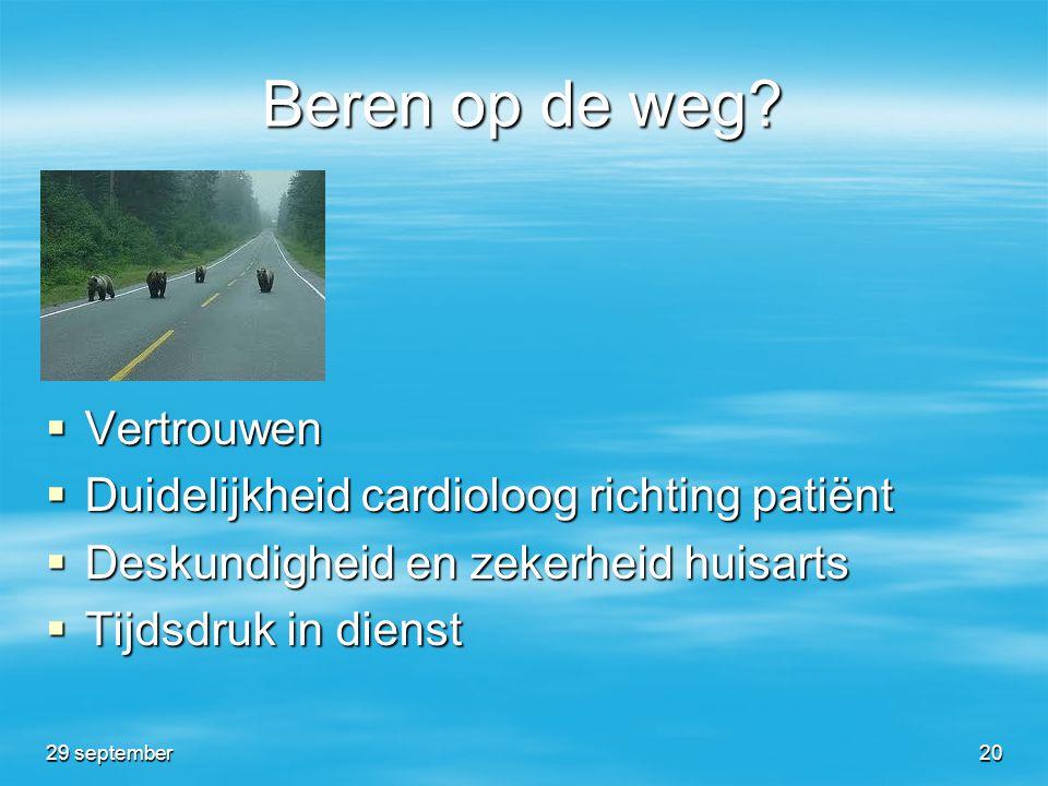 Beren op de weg Vertrouwen Duidelijkheid cardioloog richting patiënt