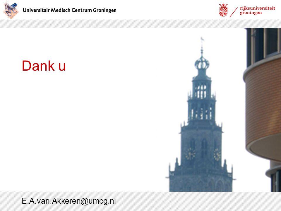 Dank u E.A.van.Akkeren@umcg.nl