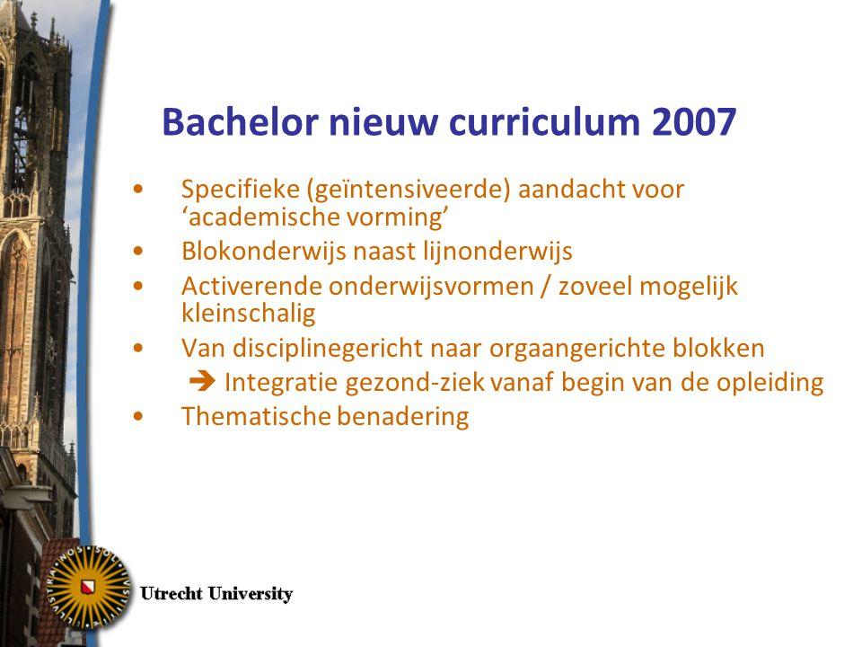 Bachelor nieuw curriculum 2007