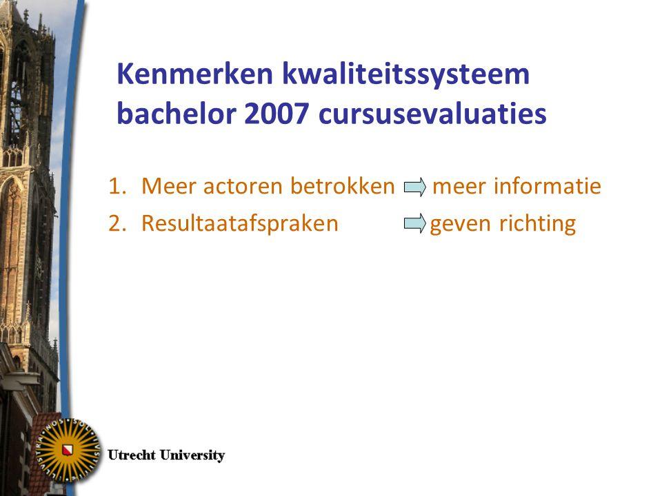 Kenmerken kwaliteitssysteem bachelor 2007 cursusevaluaties