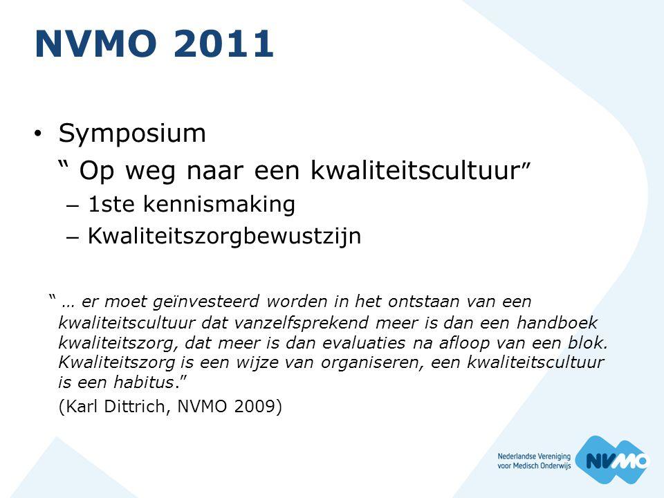 NVMO 2011 Symposium Op weg naar een kwaliteitscultuur