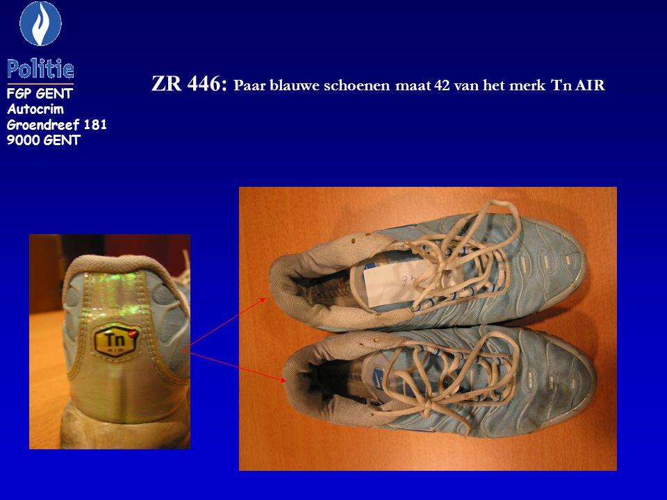 ZR 446: Paar blauwe schoenen maat 42 van het merk Tn AIR