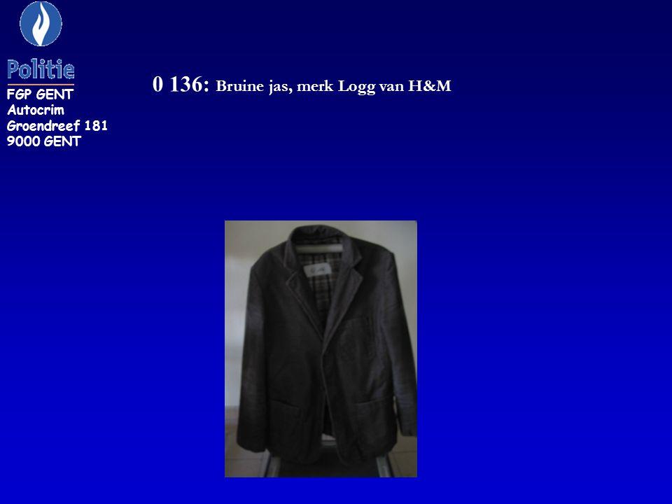 0 136: Bruine jas, merk Logg van H&M