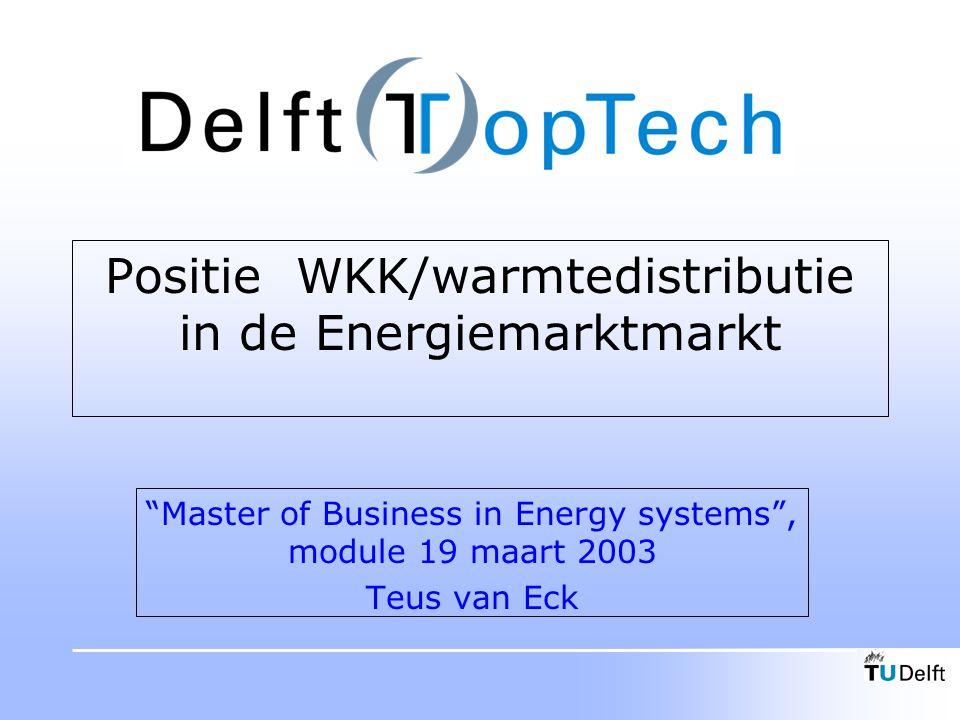 Positie WKK/warmtedistributie in de Energiemarktmarkt