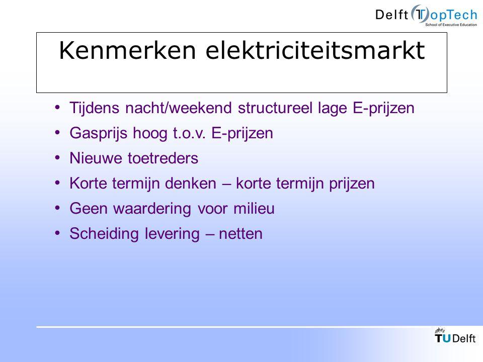 Kenmerken elektriciteitsmarkt
