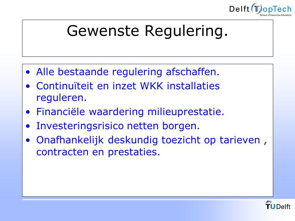 Gewenste Regulering. Alle bestaande regulering afschaffen.