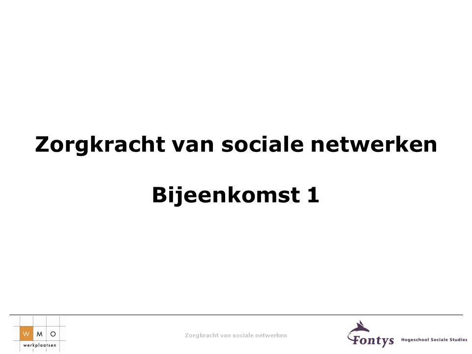 Zorgkracht van sociale netwerken