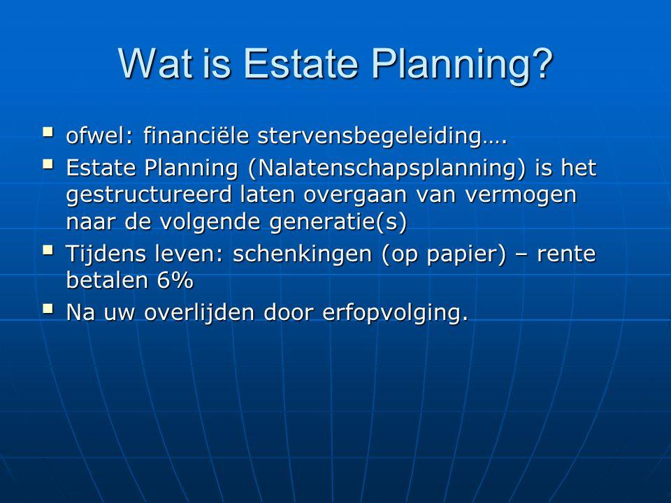 Wat is Estate Planning ofwel: financiële stervensbegeleiding….