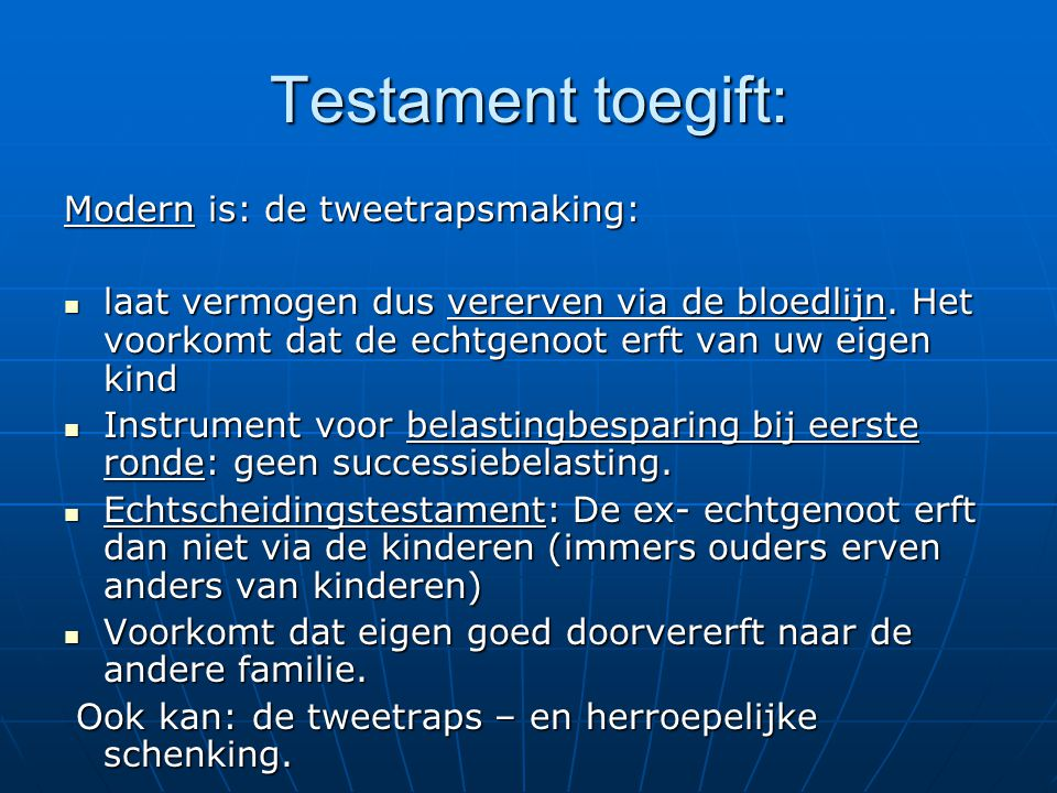 Testament toegift: Modern is: de tweetrapsmaking: