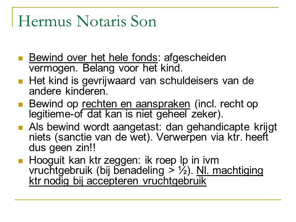 Hermus Notaris Son Bewind over het hele fonds: afgescheiden vermogen. Belang voor het kind.