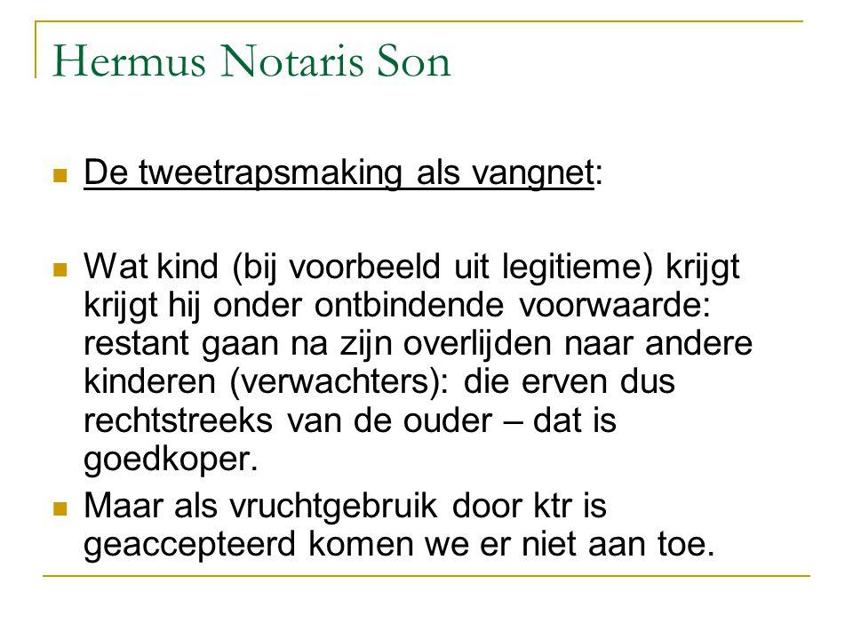 Hermus Notaris Son De tweetrapsmaking als vangnet: