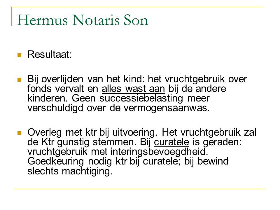 Hermus Notaris Son Resultaat: