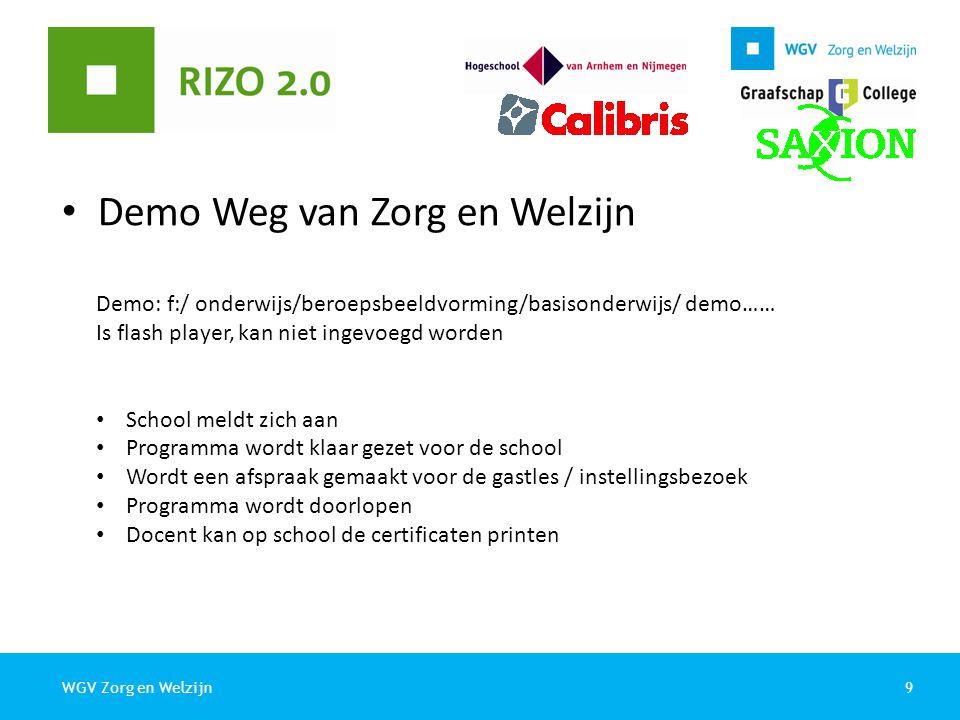 Demo Weg van Zorg en Welzijn