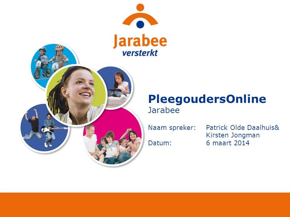 PleegoudersOnline Jarabee Naam spreker: Patrick Olde Daalhuis&