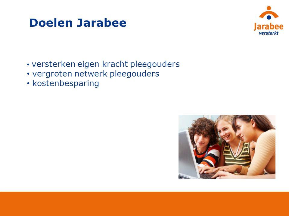 Doelen Jarabee vergroten netwerk pleegouders kostenbesparing