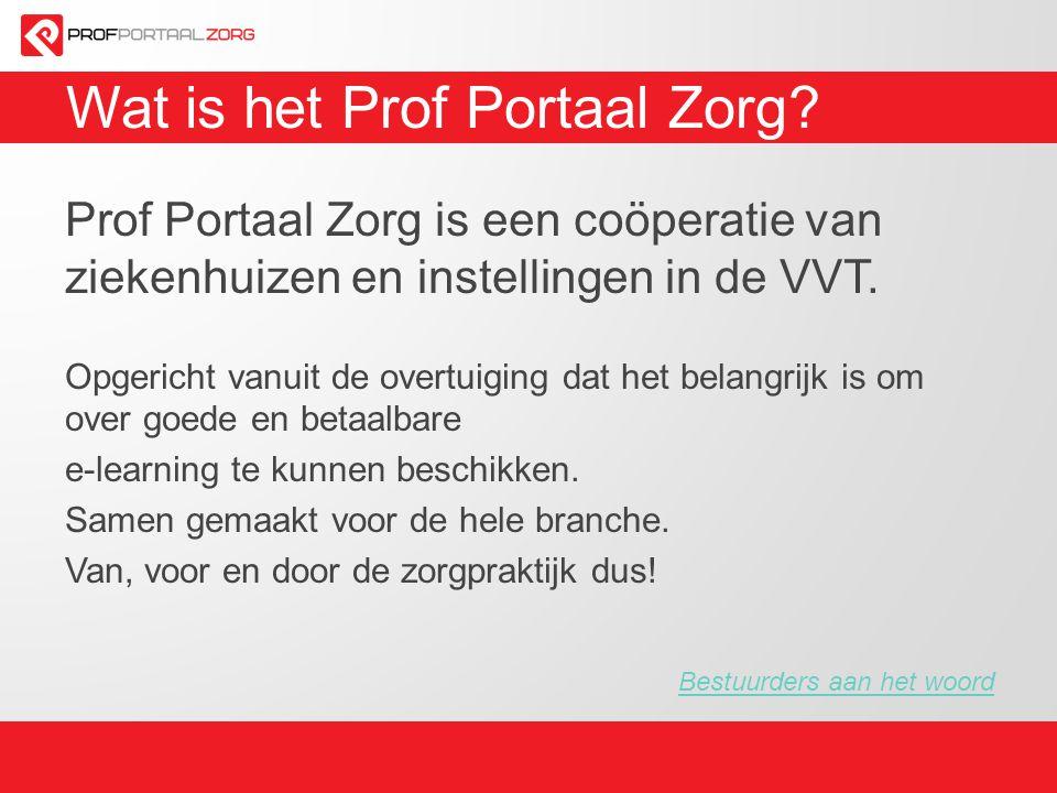 Wat is het Prof Portaal Zorg