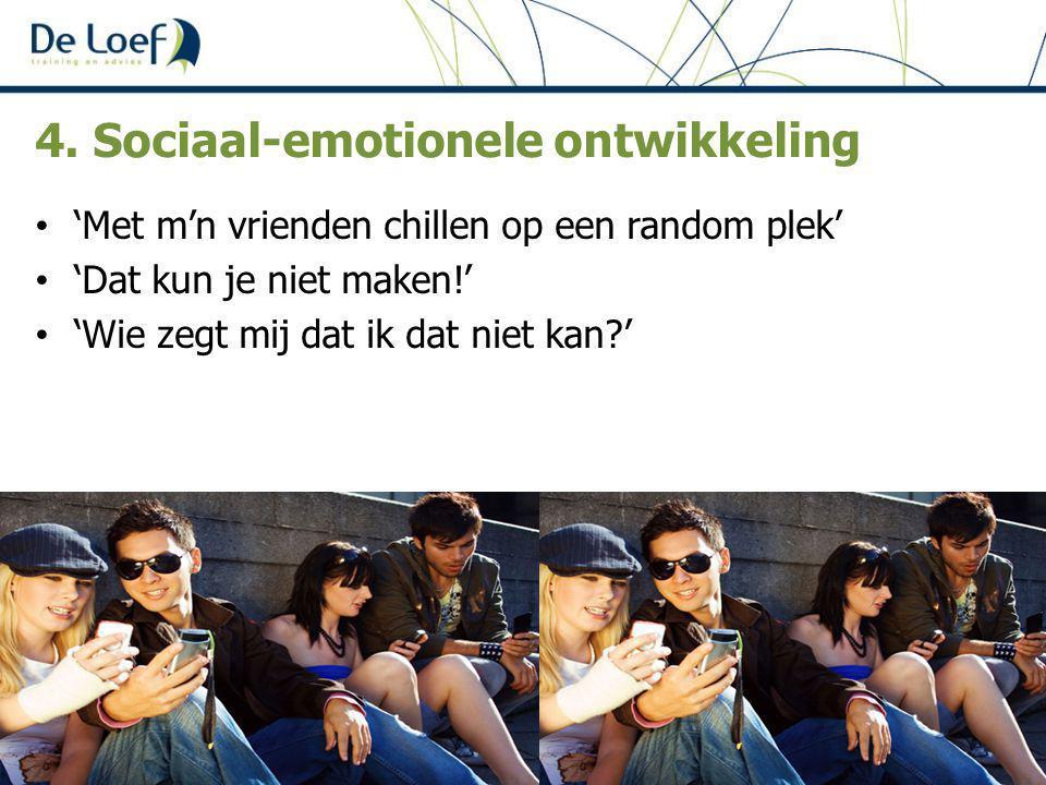 4. Sociaal-emotionele ontwikkeling