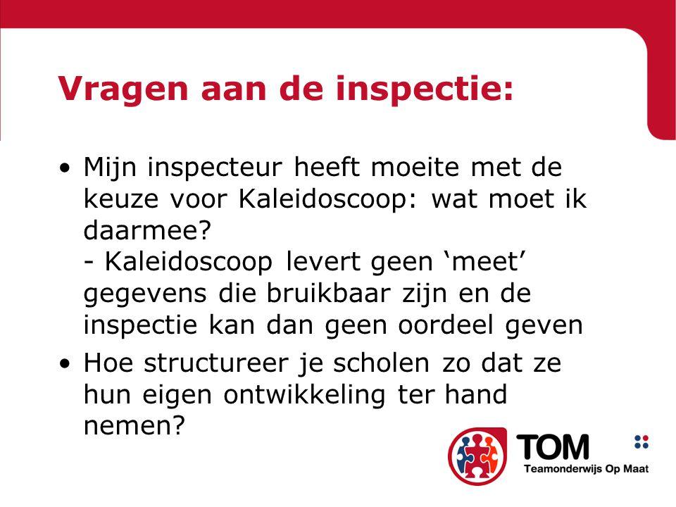Vragen aan de inspectie:
