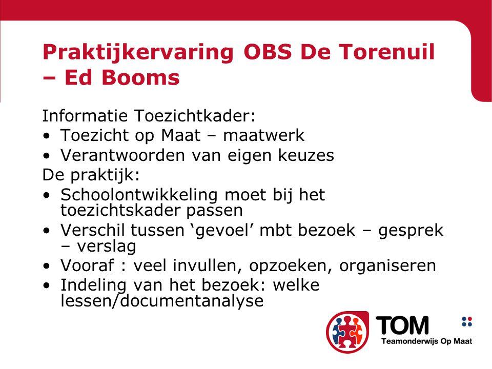Praktijkervaring OBS De Torenuil – Ed Booms