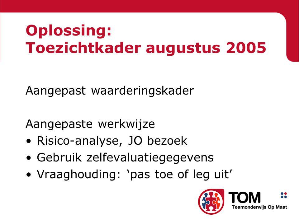 Oplossing: Toezichtkader augustus 2005