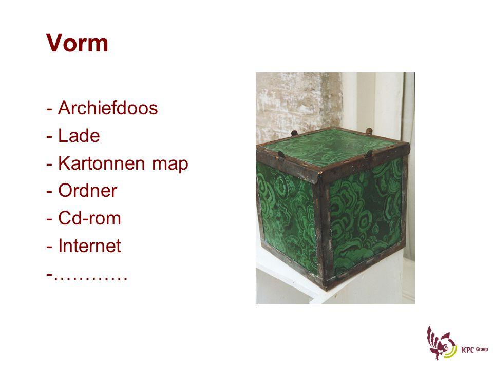 Vorm Archiefdoos Lade Kartonnen map Ordner Cd-rom Internet …………