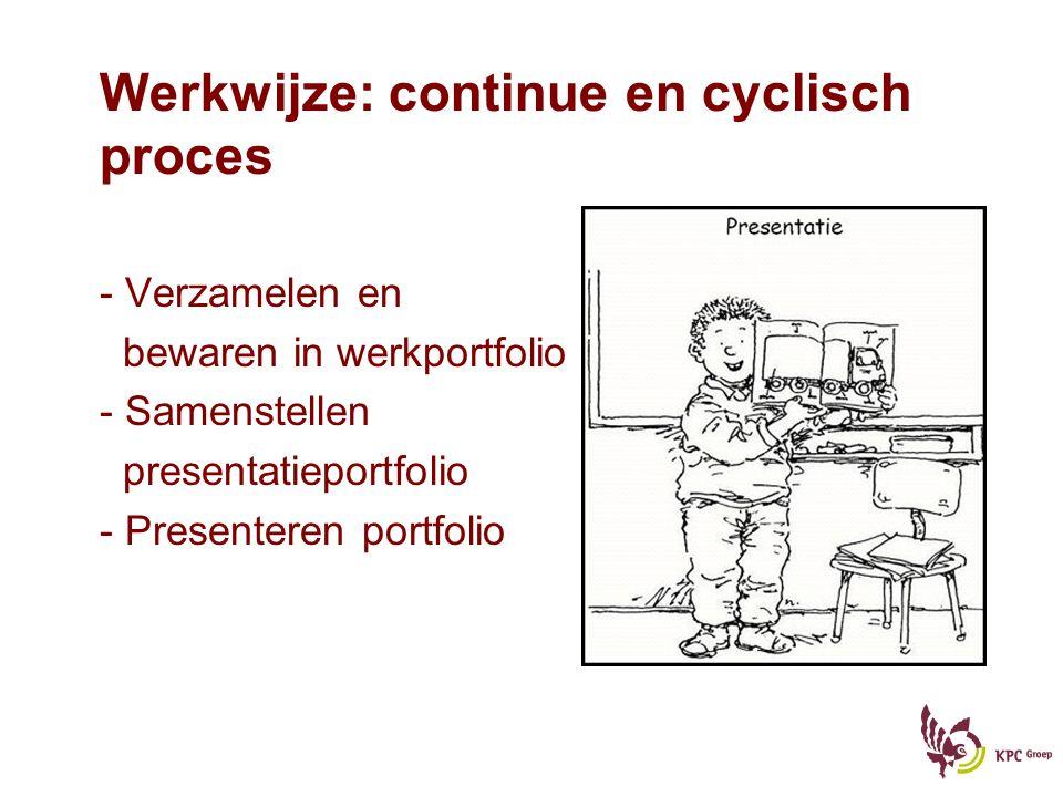 Werkwijze: continue en cyclisch proces