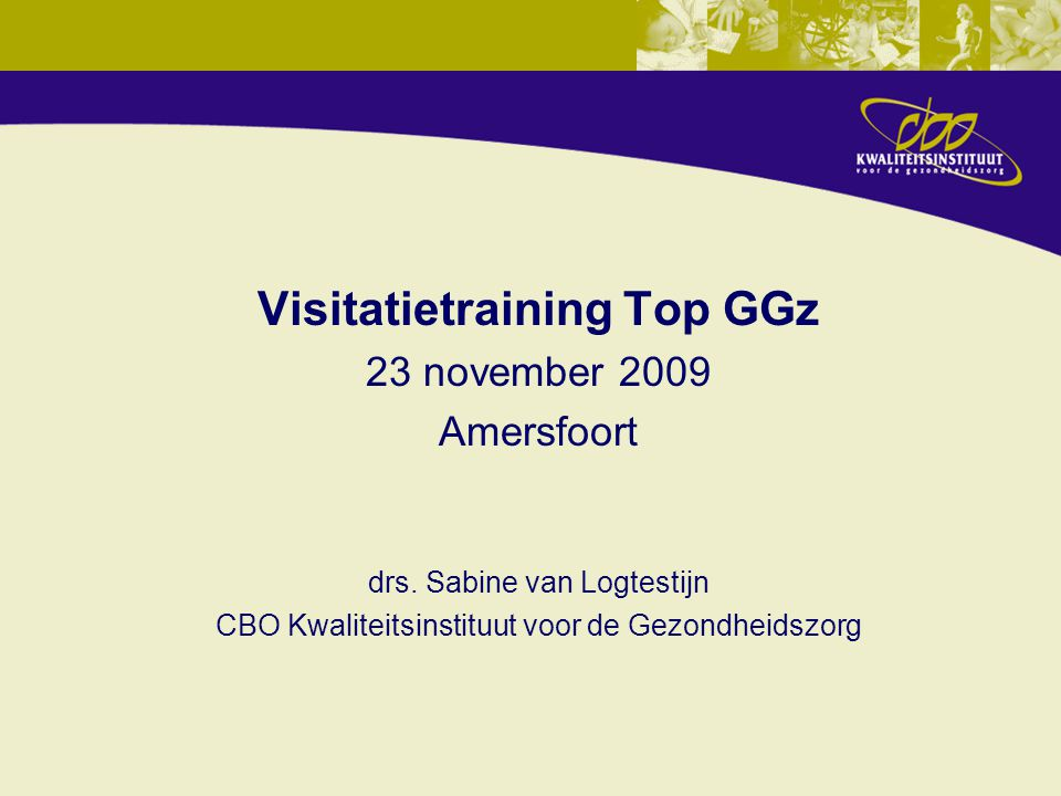 Visitatietraining Top GGz