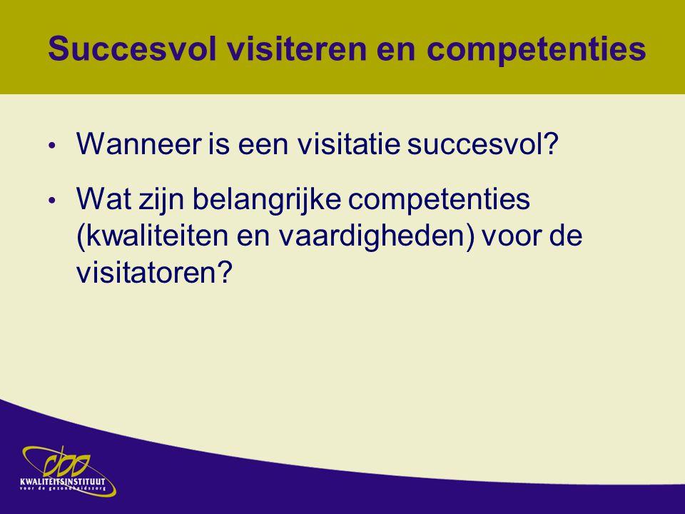 Succesvol visiteren en competenties