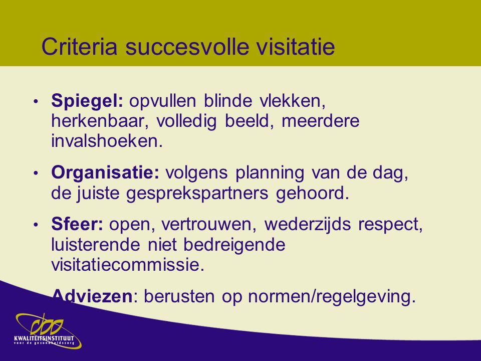 Criteria succesvolle visitatie