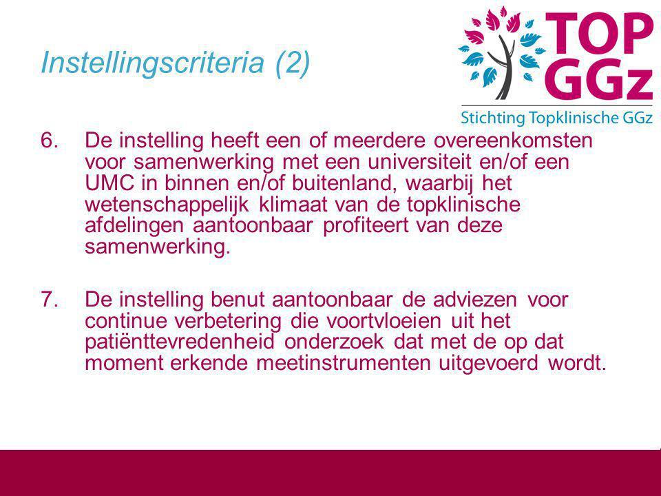 Instellingscriteria (2)