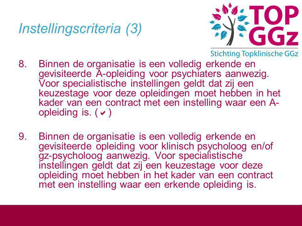 Instellingscriteria (3)
