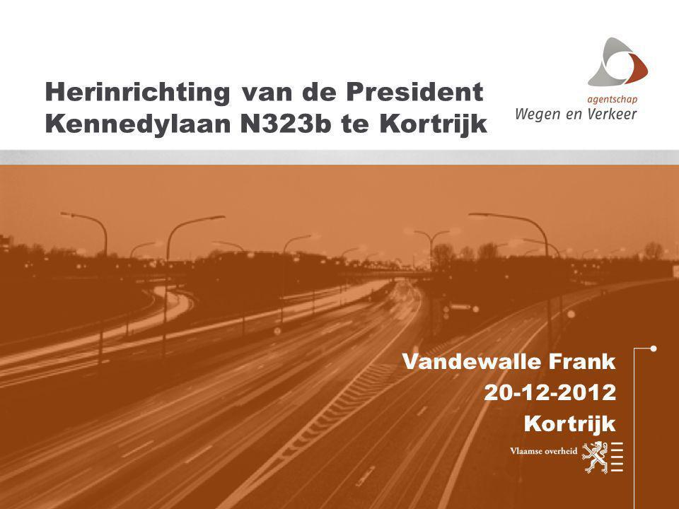 Herinrichting van de President Kennedylaan N323b te Kortrijk