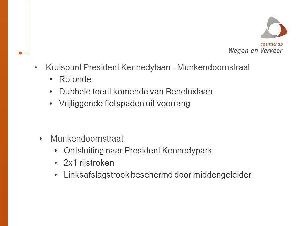 Kruispunt President Kennedylaan - Munkendoornstraat