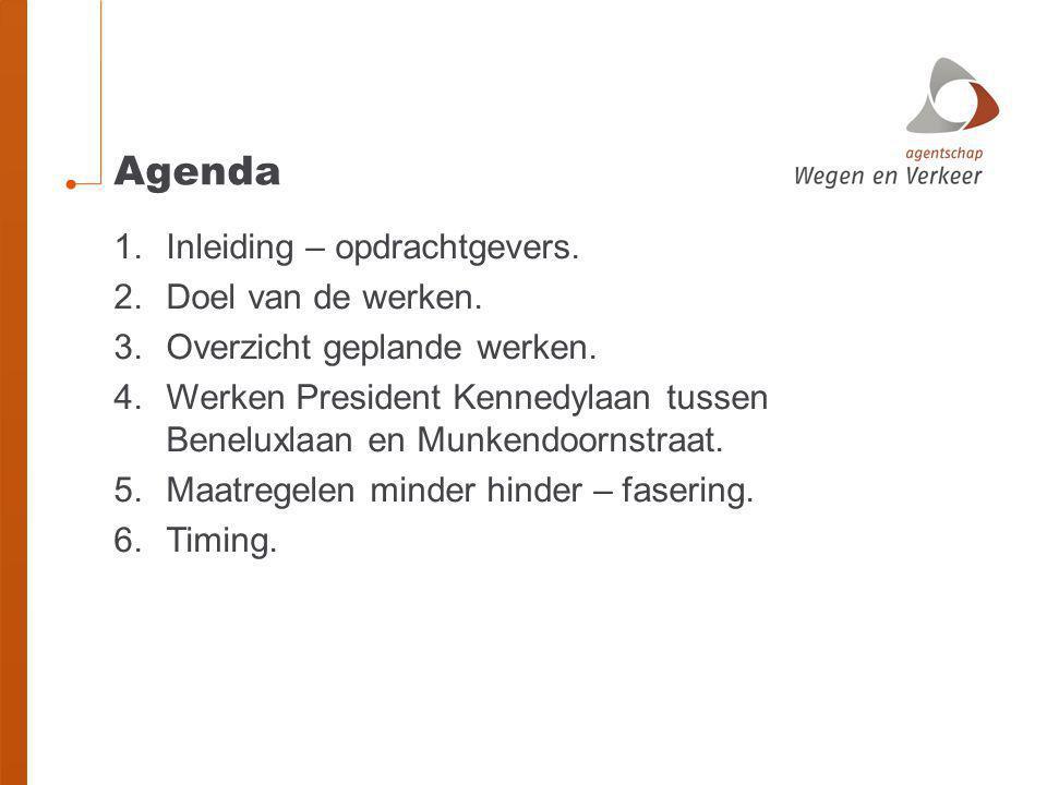 Agenda Inleiding – opdrachtgevers. Doel van de werken.
